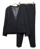 UNTITLED(アンタイトル)の古着「ノーカラーパンツスーツ」|ブラック