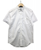 BLACK LABEL CRESTBRIDGE(ブラックレーベルクレストブリッジ)の古着「半袖ボタンダウンシャツ」 ホワイト