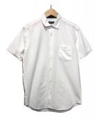 BLACK LABEL CRESTBRIDGE(ブラックレーベルクレストブリッジ)の古着「シアサッカー半袖シャツ」 ホワイト