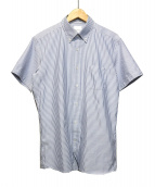 MACKINTOSH PHILOSOPHY(マッキントッシュフィロソフィー)の古着「ボタンダウンストライプシャツ」|ブルー