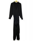 ENFOLD(エンフォルド)の古着「ACダブルクロスシャツ オールインワン」|ブラック