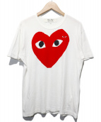 PLAY COMME des GARCONS(プレイコムデギャルソン)の古着「HEART PRINT TEE」|ホワイト