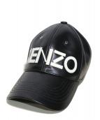 KENZO(ケンゾー)の古着「ロゴレザーベースボールキャップ」|ブラック