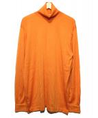 HERMES(エルメス)の古着「ハイネックシルクカシミアニット」|オレンジ