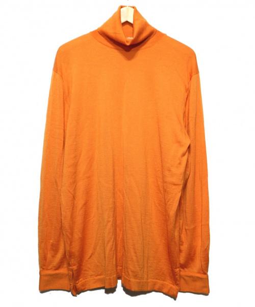 HERMES(エルメス)HERMES (エルメス) ハイネックシルクカシミアニット オレンジ サイズ:L イタリア製の古着・服飾アイテム