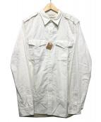 DENIM & SUPPLY RALPH LAUREN(デニムアンドサプライ ラルフローレン)の古着「コットンワークシャツ」|ホワイト