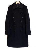 green(グリーン)の古着「デザインメルトンコート」|ブラック