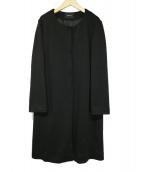 TABASA(タバサ)の古着「ノーカラーコート」|ブラック