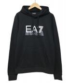 EMPORIO ARMANI EA7(エンポリオ アルマーニ イーエーセブン)の古着「ロゴフーディー」|ブラック