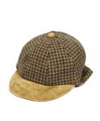 Hender Scheme(エンダースキーマー)の古着「tweed ear cap」 ブラウン