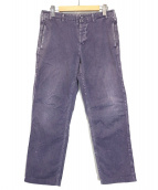 Ordinary fits(オーディナリーフィッツ)の古着「HERRINGBONE WORK PANT」|パープル