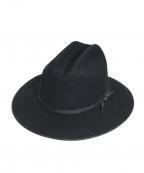 STETSON(ステットソン)の古着「ヴィンテージ中折れハット」|ブラック