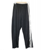 Y-3(ワイスリ)の古着「3-Stripes Selvedge Wide Pants」|ブラック