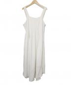 LEINWANDE(ラインヴァンド)の古着「belted Linen Dress」 ベージュ