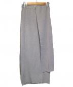 LEINWANDE(ラインヴァンド)の古着「Tie Knit Dress & Skirt」 グレー