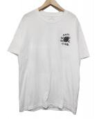 ANTI SOCIAL SOCIAL CLUB(アンチソーシャルソーシャルクラブ)の古着「Bat Emoji Pastel Tee」|ホワイト