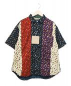 THE NERDYS(ザナーディーズ)の古着「サマーコーデュロイ クレイジー ペイズリーシャツ」|マルチカラー