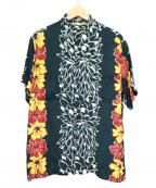 THE REAL McCOY'S()の古着「pine mcswineアロハシャツ」|グリーン