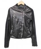GIORGIO BRATO(ジョルジオ ブラッド)の古着「ラムレザーライダースジャケット」 ブラック
