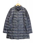 CECIOU CELA(セシオセラ)の古着「チェックプリント中綿コート」|チャコールグレー