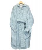 .efiLevol(エフィレボル)の古着「シャツワンピース」|グリーン