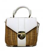 DIANA(ダイアナ)の古着「カゴショルダーバッグ」|ホワイト×ベージュ
