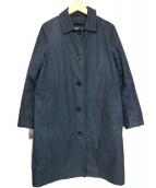 MHL(エムエイチエル)の古着「ダウンライナー付ステンカラーコート」|ネイビー