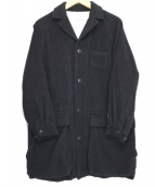 BEAMS BOY(ビームスボーイ)の古着「ナッピングオーバーコート」|ネイビー