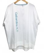 Gabardine K.T(ギャバシンケーティー)の古着「ロゴプリント Tシャツ」 ホワイト