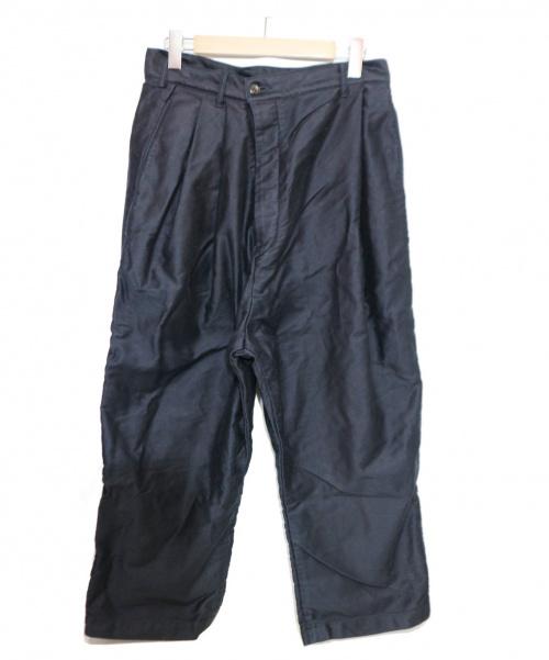 OUTIL(ウティ)OUTIL (ウティ) タックパンツ ネイビー サイズ:2の古着・服飾アイテム