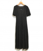 Lily Brown(リリーブラウン)の古着「刺繍シフォン2WAYワンピース」 ブラック