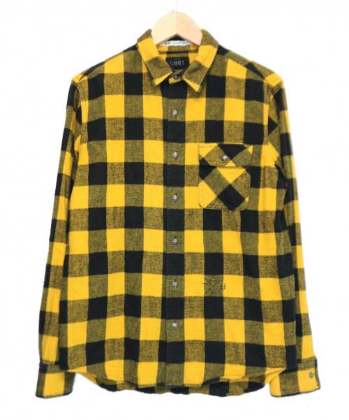 SURT(サート)SURT (サート) チェックネルシャツ イエロー サイズ:M 秋物の古着・服飾アイテム