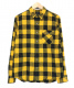 SURT(サート)の古着「チェックネルシャツ」|イエロー