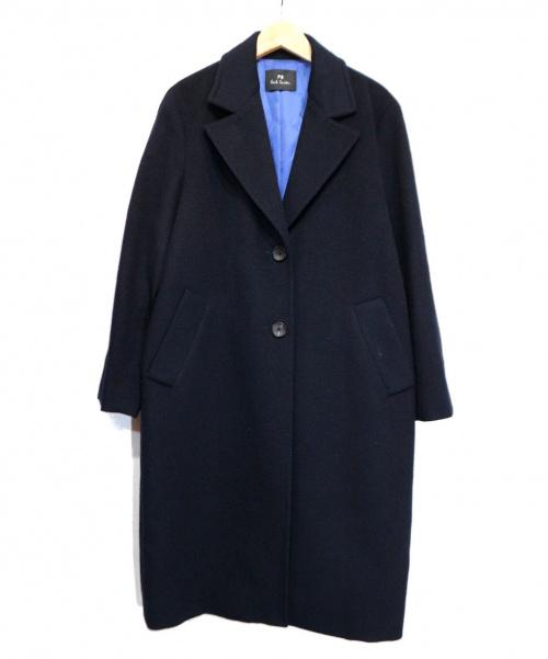 Paul Smith(ポールスミス)Paul Smith (ポールスミス) カシミヤコート ブラック サイズ:38 冬物の古着・服飾アイテム