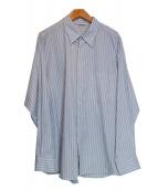 AURALEE(オーラリー)の古着「WASHED FINX TWILL STRIPE SHIRT」|ホワイト