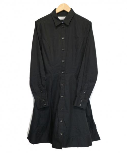 The Virgnia(ザヴァージニア)The Virgnia (ザヴァージニア) シャツワンピース ブラック サイズ:38の古着・服飾アイテム