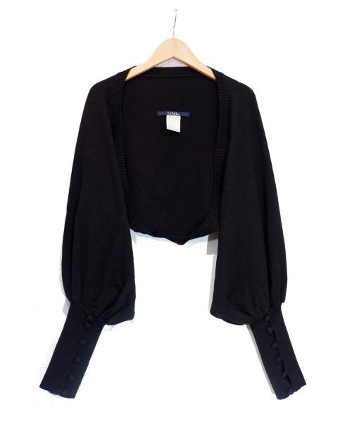 LIMI feu(リミフゥ)LIMI feu (リミフゥ) ボレロカーディガン ブラック サイズ:採寸参考の古着・服飾アイテム