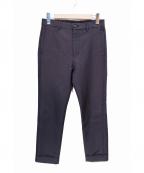 H BEAUTY&YOUTH(エイチ ビューティアンドユース)の古着「TW SERGE SLIM PANTS」|ブラック