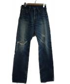 LEVIS(リーバイス)の古着「シンチバックセルビッチデニムパンツ」|ブルー
