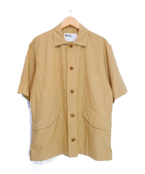 MHL(エムエイチエル)MHL (エムエイチエル) 半袖シャツ ベージュ サイズ:S 夏物の古着・服飾アイテム