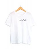 MM6 Maison Margiela(エムエムシックスメゾンマルジェラ)の古着「Embroidered logo T-shirt」|ホワイト