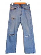 B SIDES(ビーサイズ)の古着「クラッシュデニムパンツ」|インディゴ