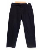 COLINA(コリーナ)の古着「Sashiko Curve Slacks」|ブラック