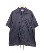 THE NORTHFACE PURPLELABEL(ザノースフェイスパープルレーベル)の古着「Nylon Ripstop H/S Shirt」|ブラック