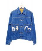 EVISU PARIS(エヴィス)の古着「刺繍デニムジャケット」|インディゴ