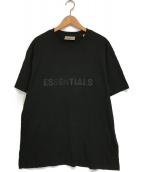 ()の古着「Front rubber logo T-shirt」 ブラック