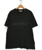 FOG ESSENTIALS(フィアオブゴッド エッセンシャル)の古着「Front rubber logo T-shirt」|ブラック