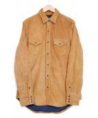 Rags McGREGOR(ラグスマックレガー)の古着「スウェードウエスタンシャツ」 ブラウン
