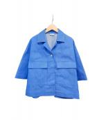 DRIES VAN NOTEN(ドリスバンノッテン)の古着「シャツジャケット」|スカイブルー