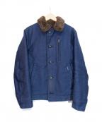 BLUE BLUE(ブルーブルー)の古着「ジャーマンクロスデッキジャケット」|ネイビー